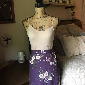 Dresses & Skirts - Purple Floral Maxi Skirt Size Small